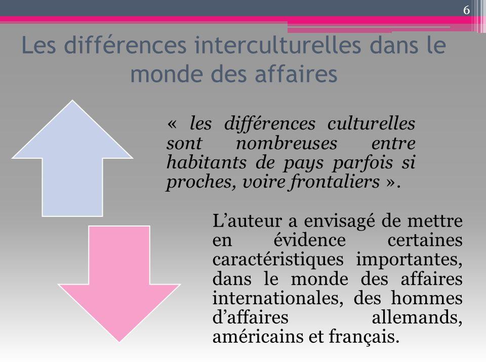 Les différences interculturelles dans le monde des affaires