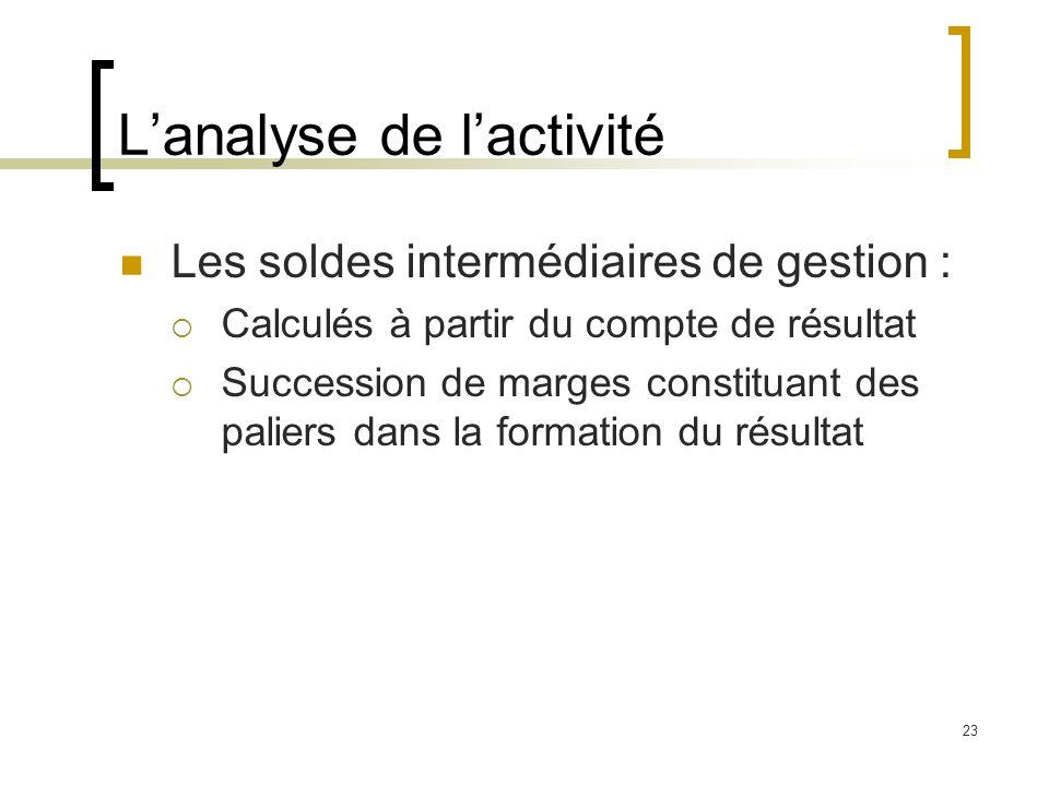 L'analyse de l'activité