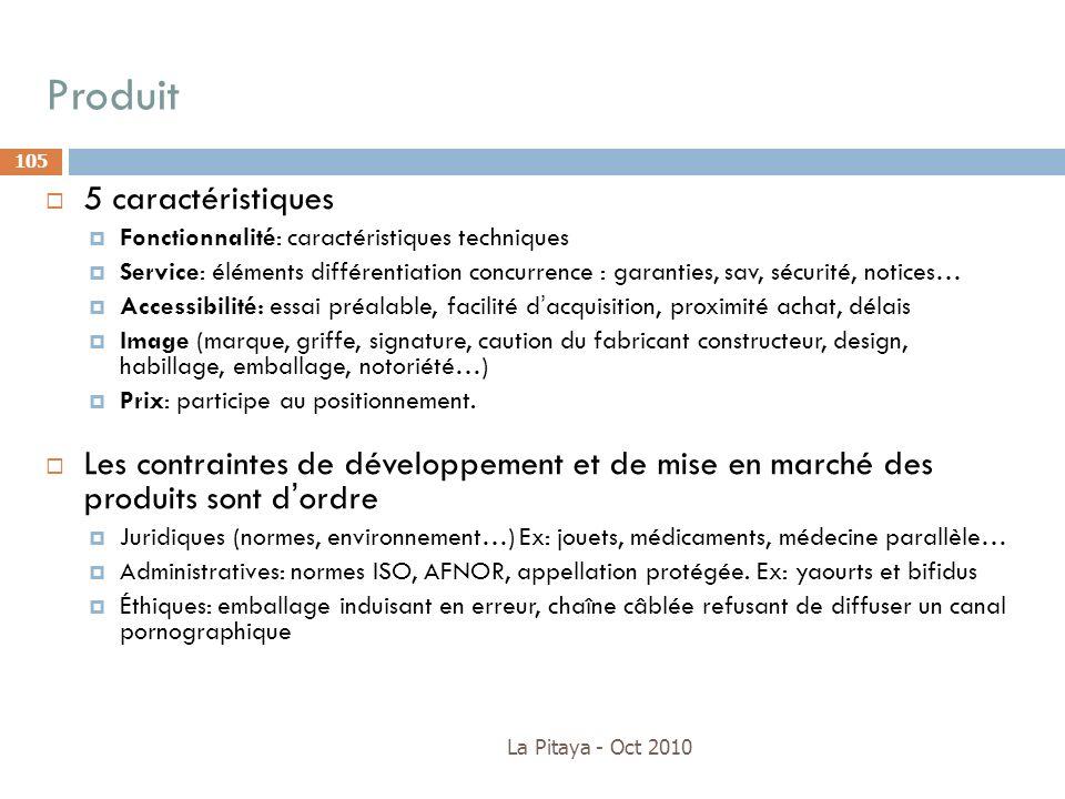 Produit 5 caractéristiques