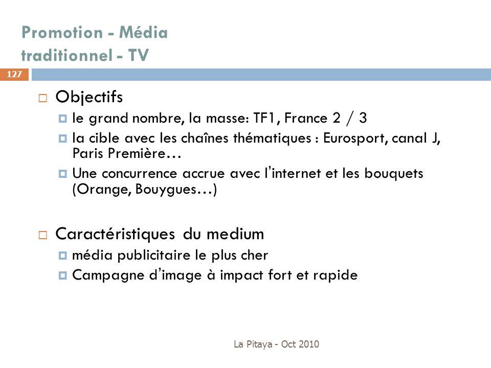 Promotion - Média traditionnel - TV