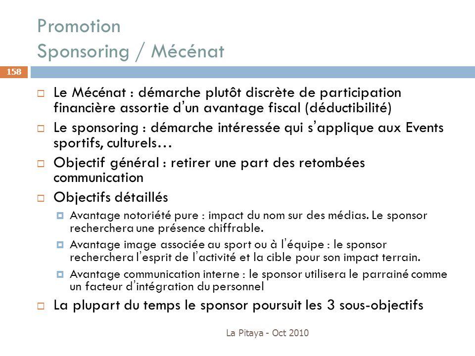 Promotion Sponsoring / Mécénat