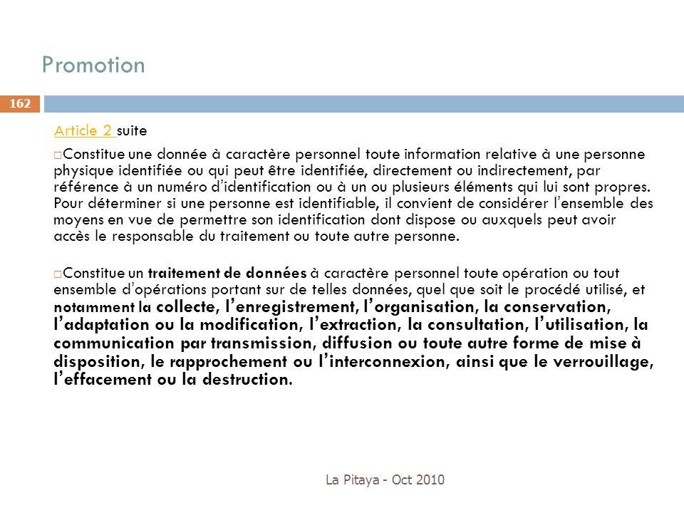 Promotion Article 2 suite