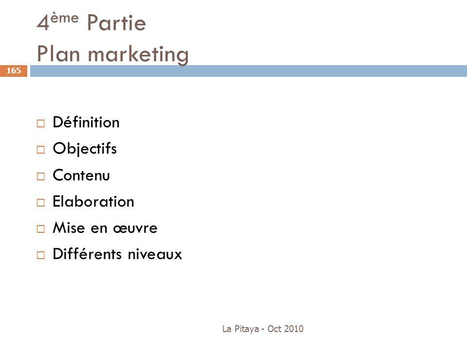 4ème Partie Plan marketing