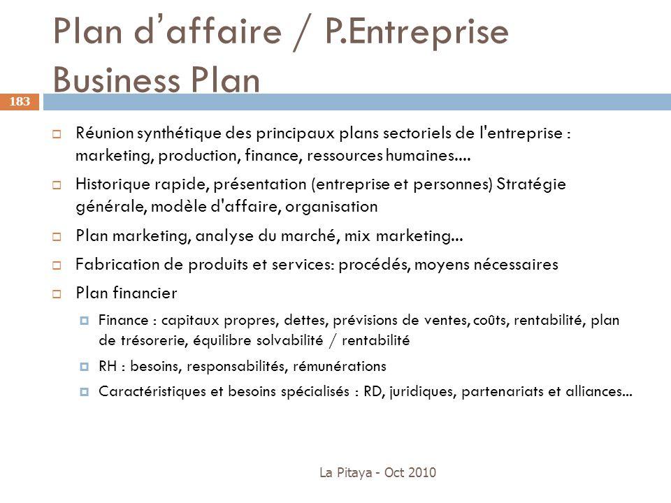 Plan d'affaire / P.Entreprise Business Plan