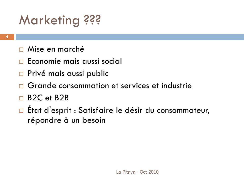 Marketing Mise en marché Economie mais aussi social