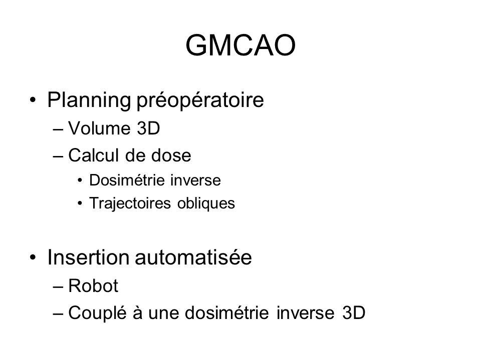 GMCAO Planning préopératoire Insertion automatisée Volume 3D