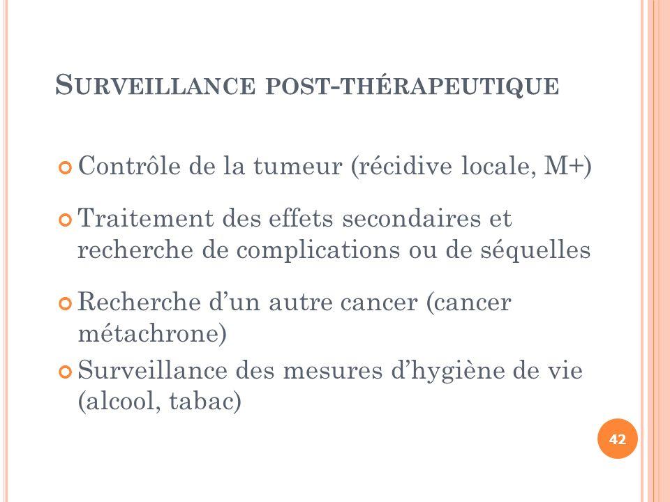 Surveillance post-thérapeutique