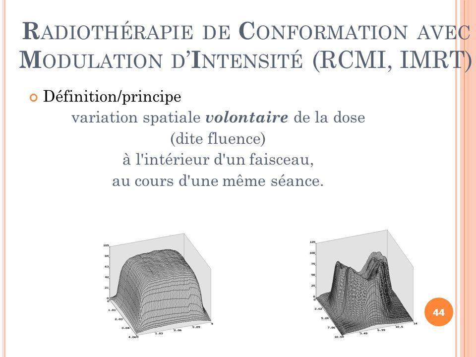 Radiothérapie de Conformation avec Modulation d'Intensité (RCMI, IMRT)