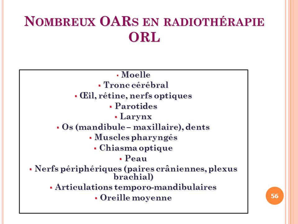Nombreux OARs en radiothérapie ORL