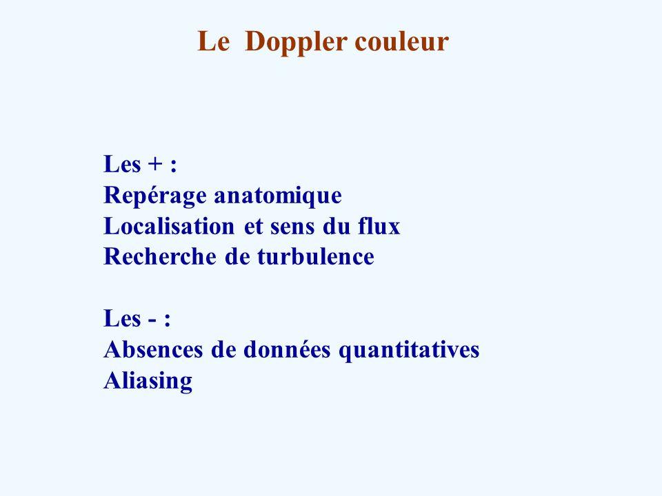 Le Doppler couleur Les + : Repérage anatomique