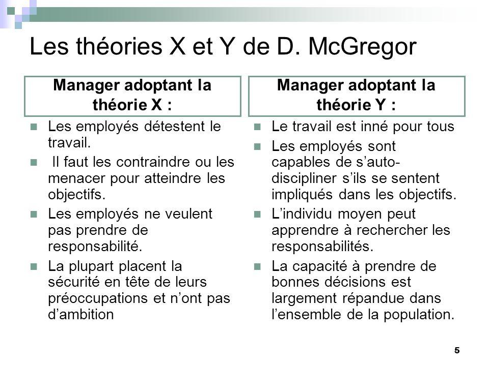 Les théories X et Y de D. McGregor