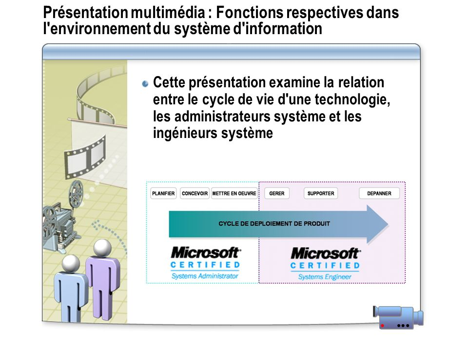 Présentation multimédia : Fonctions respectives dans l environnement du système d information