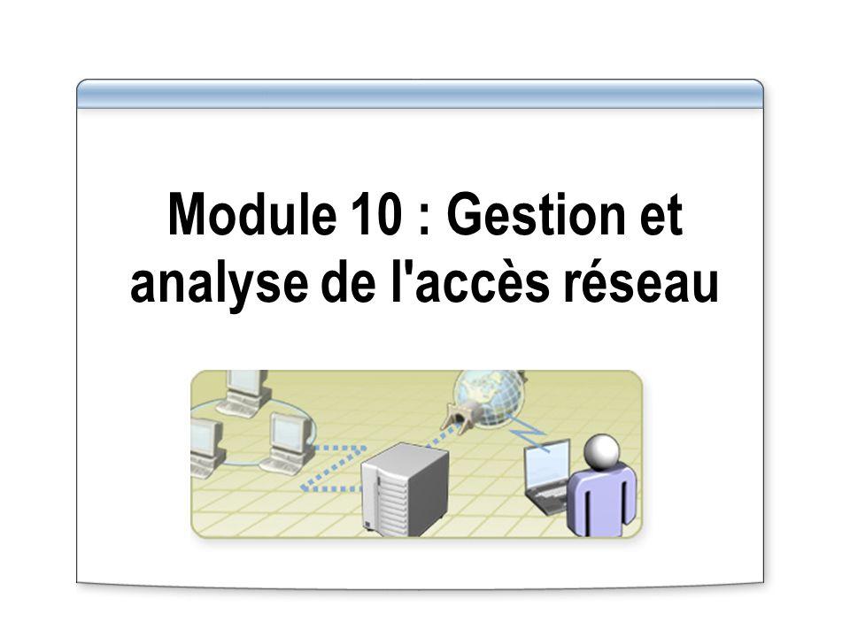 Module 10 : Gestion et analyse de l accès réseau