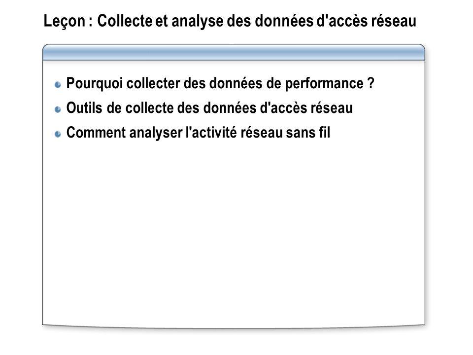 Leçon : Collecte et analyse des données d accès réseau