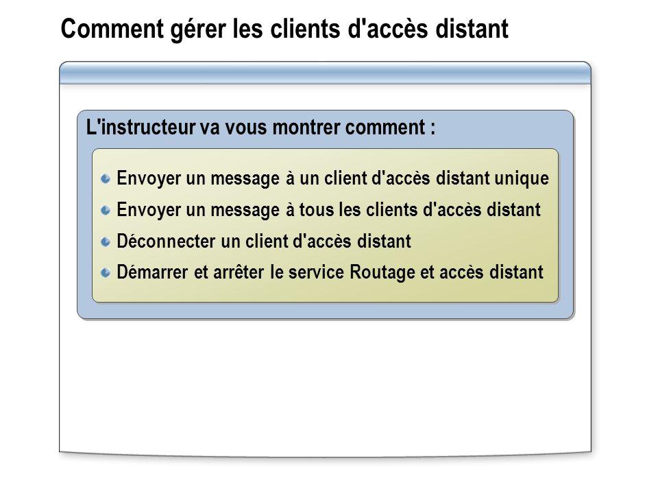 Comment gérer les clients d accès distant