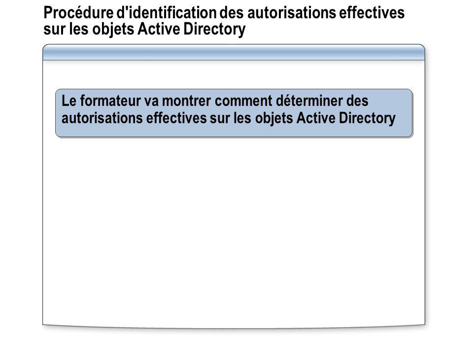 Procédure d identification des autorisations effectives sur les objets Active Directory