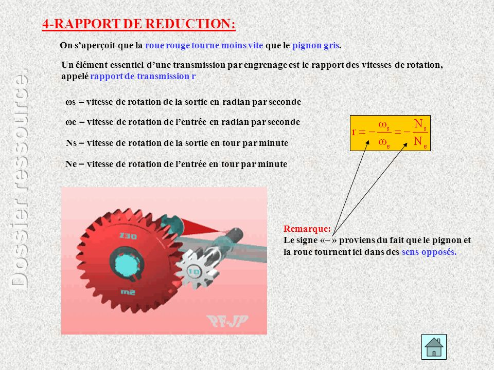 Dossier ressource. 4-RAPPORT DE REDUCTION: