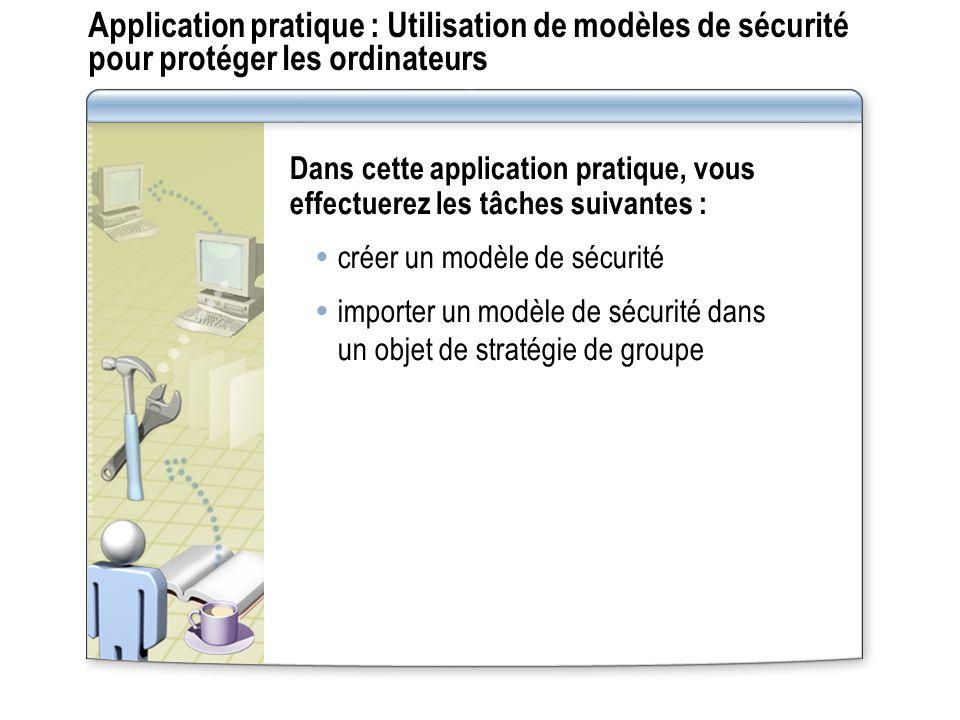 Application pratique : Utilisation de modèles de sécurité pour protéger les ordinateurs
