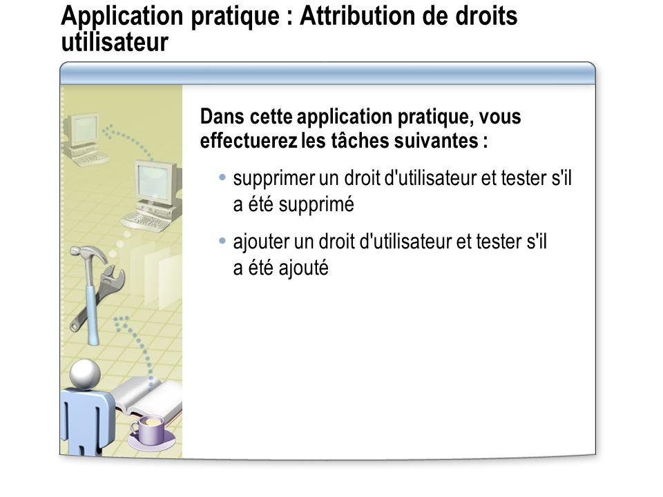 Application pratique : Attribution de droits utilisateur
