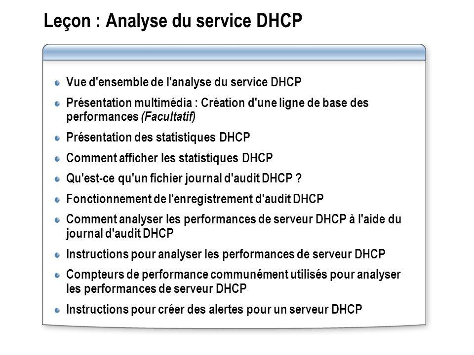 Leçon : Analyse du service DHCP