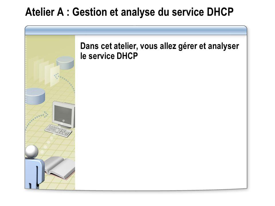 Atelier A : Gestion et analyse du service DHCP