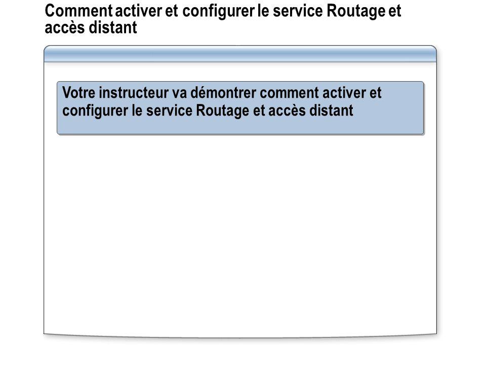 Comment activer et configurer le service Routage et accès distant
