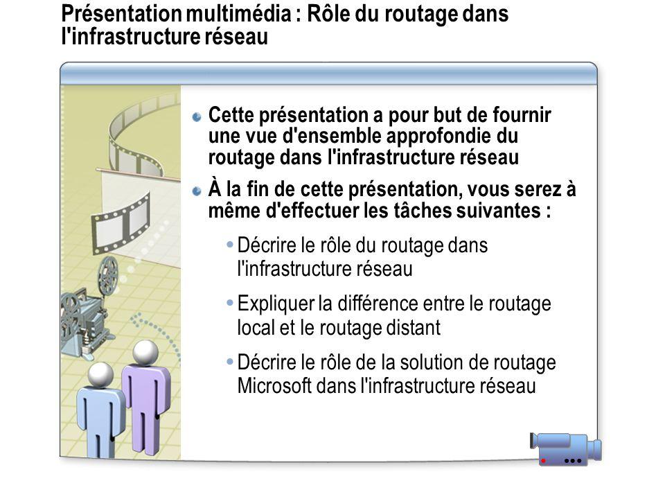 Présentation multimédia : Rôle du routage dans l infrastructure réseau