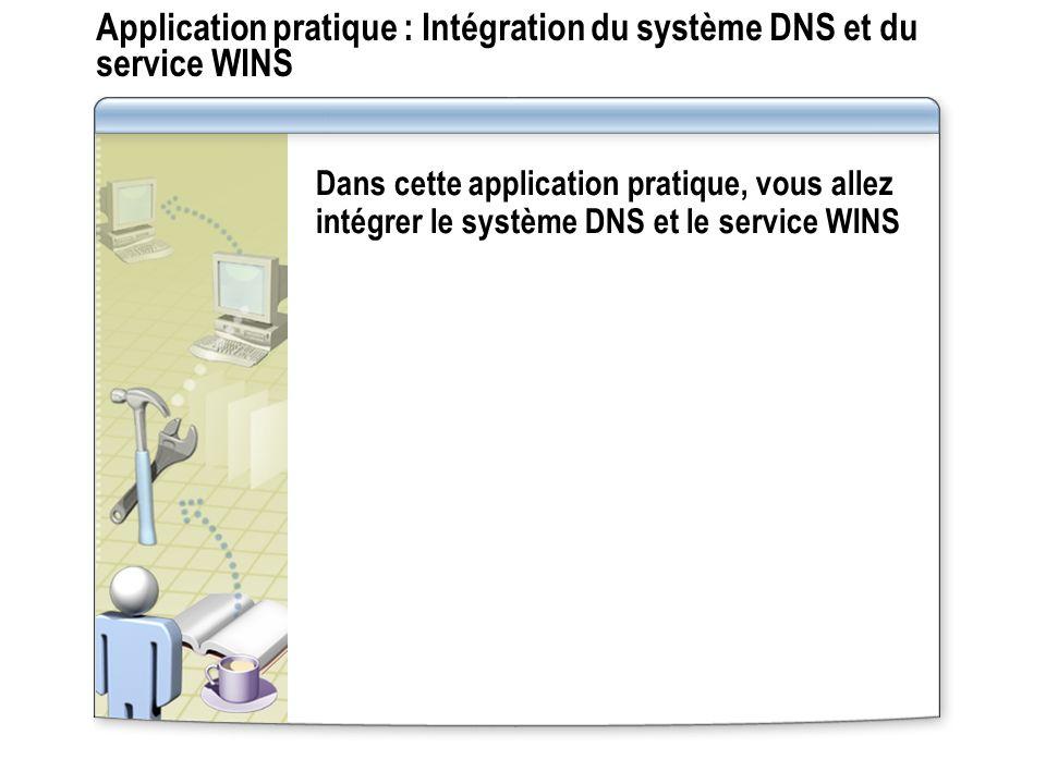 Application pratique : Intégration du système DNS et du service WINS