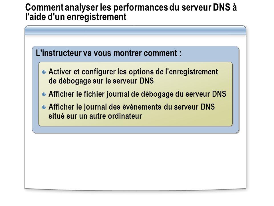 Comment analyser les performances du serveur DNS à l aide d un enregistrement
