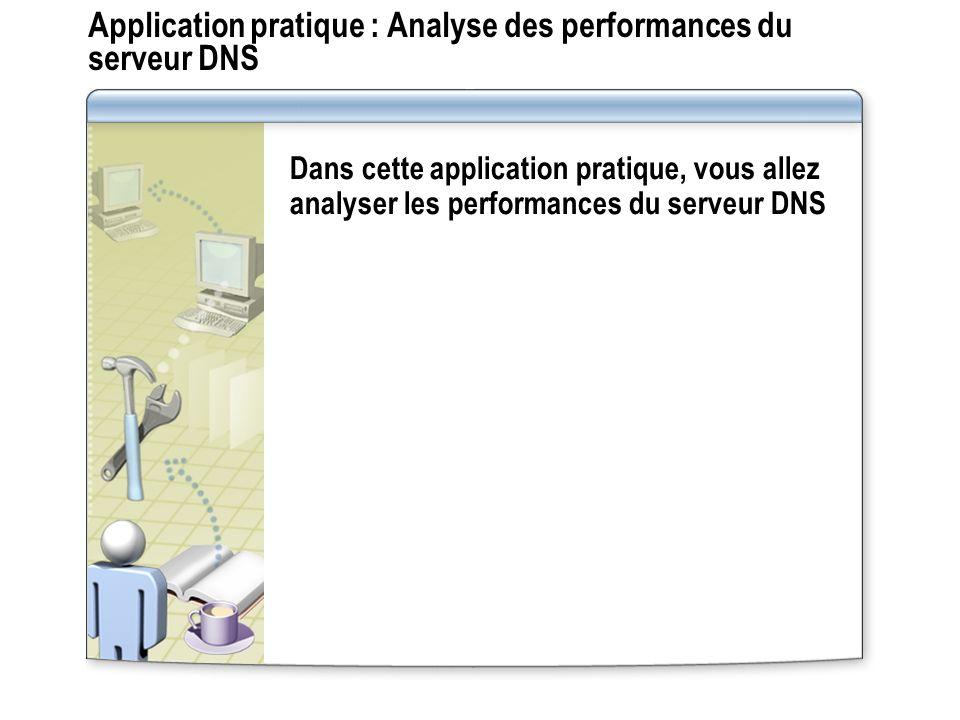 Application pratique : Analyse des performances du serveur DNS