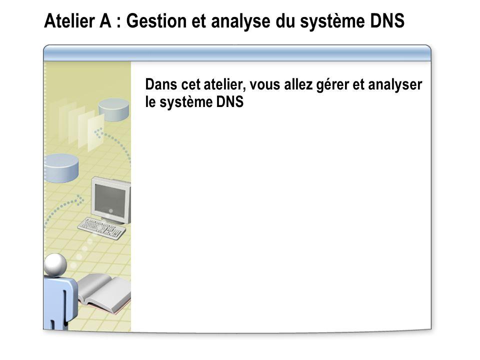 Atelier A : Gestion et analyse du système DNS