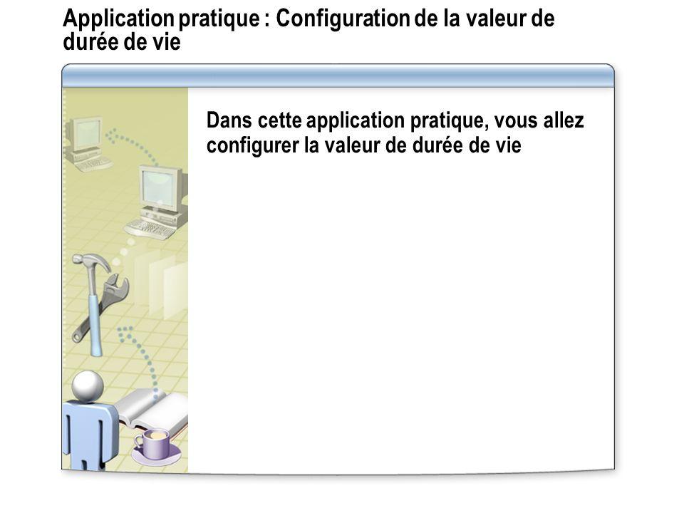 Application pratique : Configuration de la valeur de durée de vie