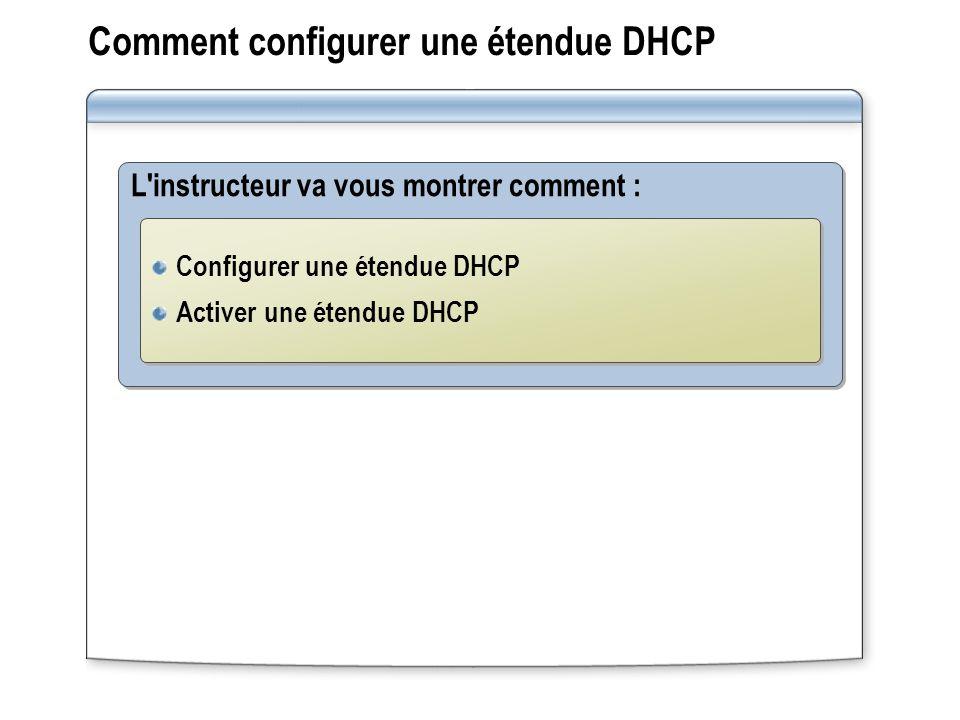 Comment configurer une étendue DHCP