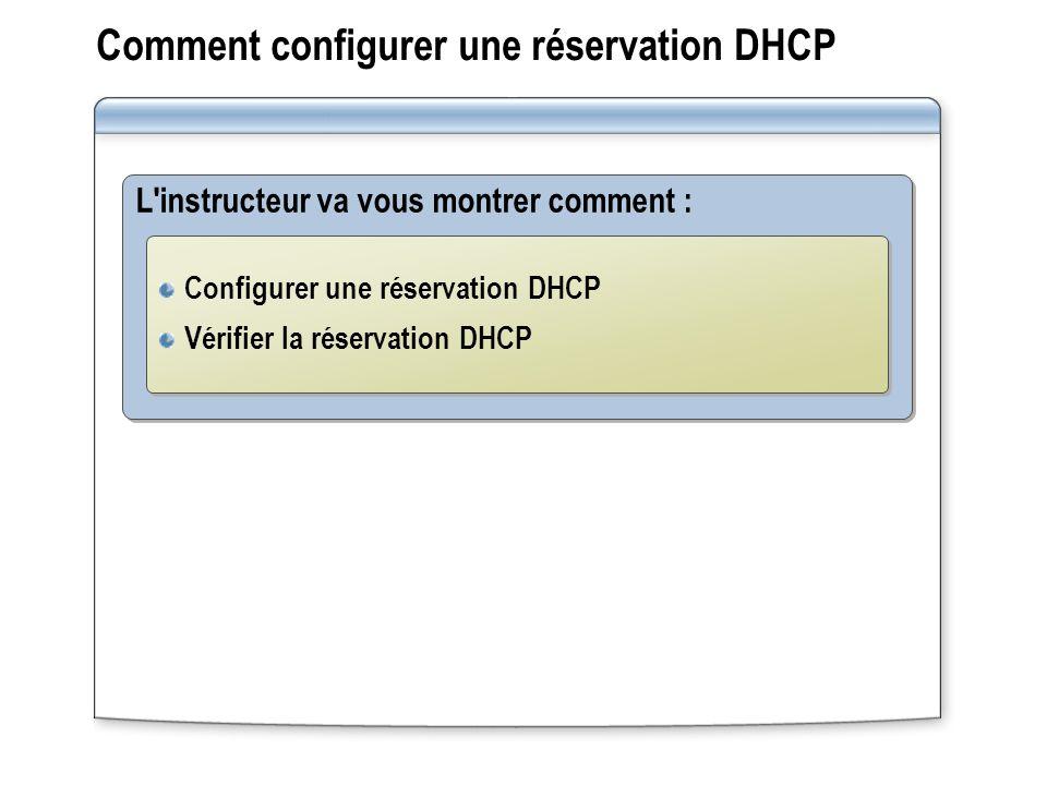 Comment configurer une réservation DHCP