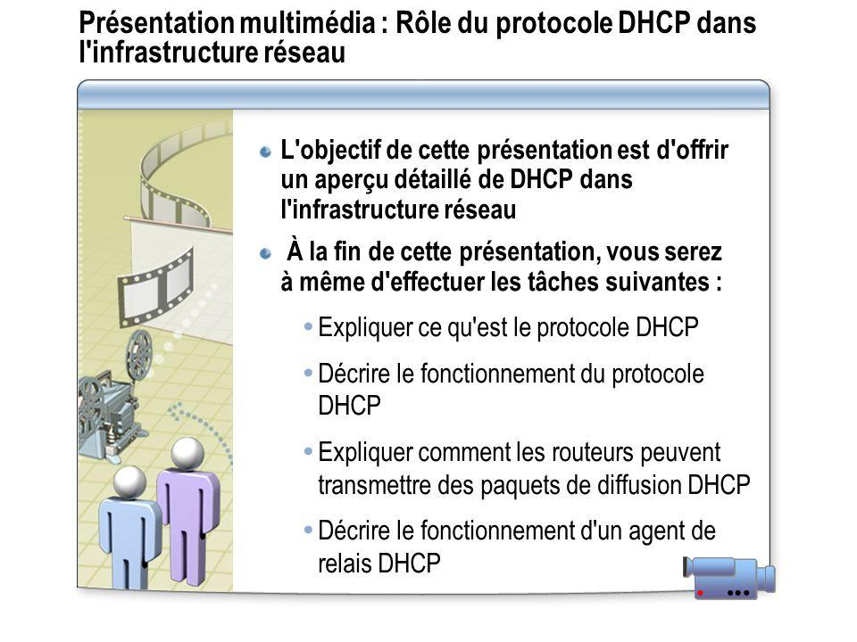 Présentation multimédia : Rôle du protocole DHCP dans l infrastructure réseau