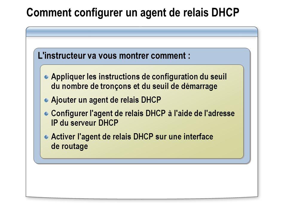 Comment configurer un agent de relais DHCP