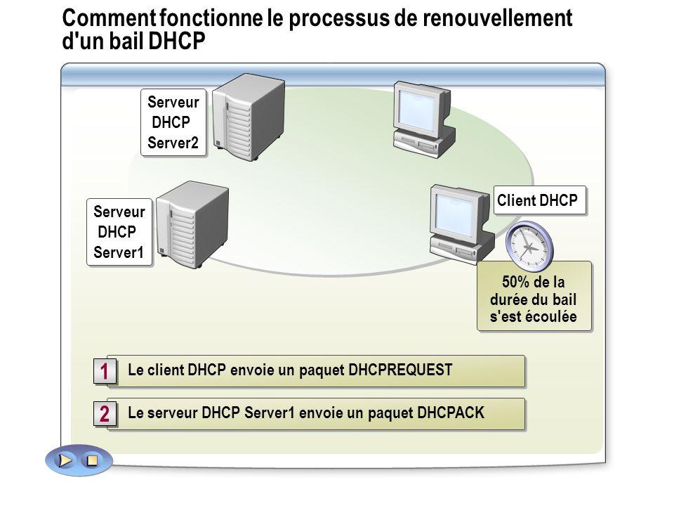Comment fonctionne le processus de renouvellement d un bail DHCP