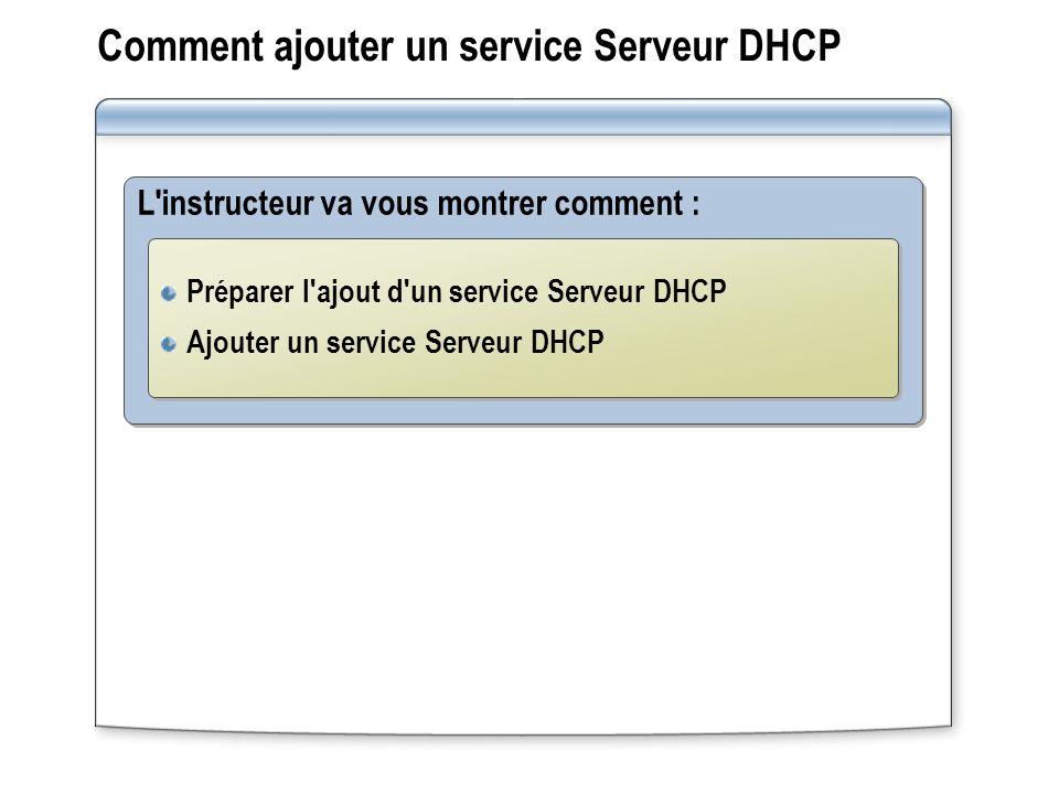 Comment ajouter un service Serveur DHCP