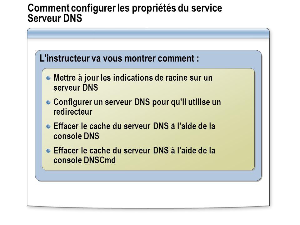 Comment configurer les propriétés du service Serveur DNS