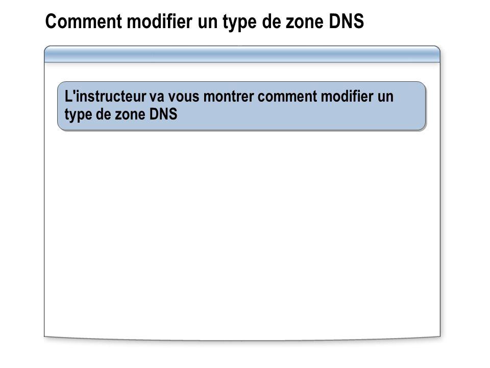 Comment modifier un type de zone DNS