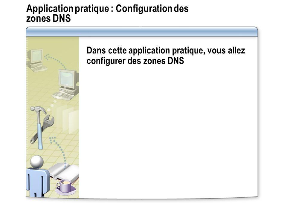 Application pratique : Configuration des zones DNS