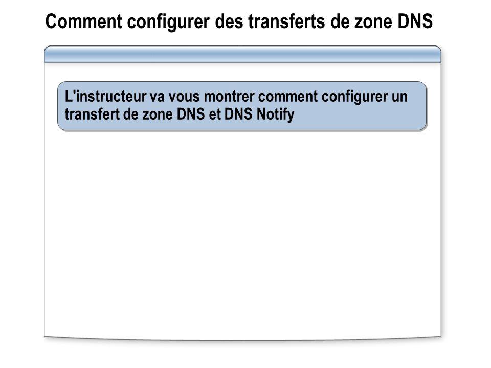 Comment configurer des transferts de zone DNS