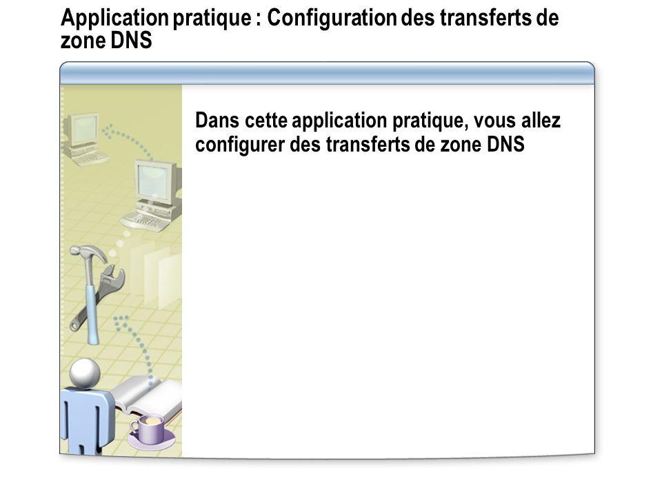 Application pratique : Configuration des transferts de zone DNS