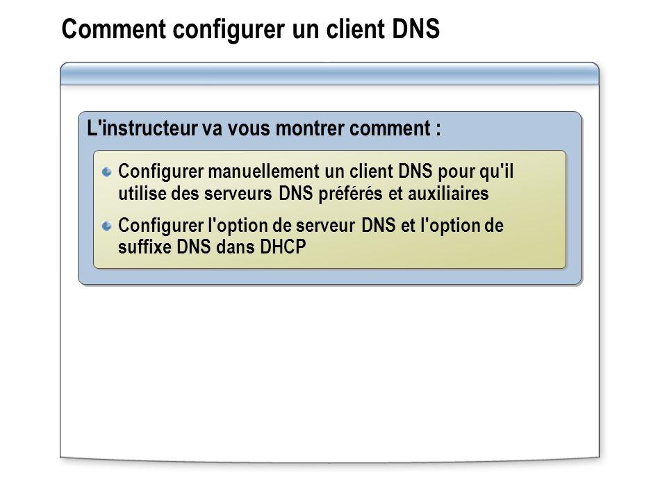 Comment configurer un client DNS