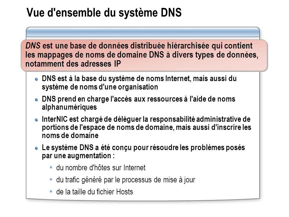 Vue d ensemble du système DNS