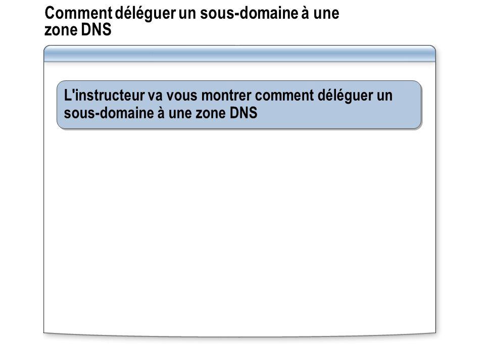 Comment déléguer un sous-domaine à une zone DNS