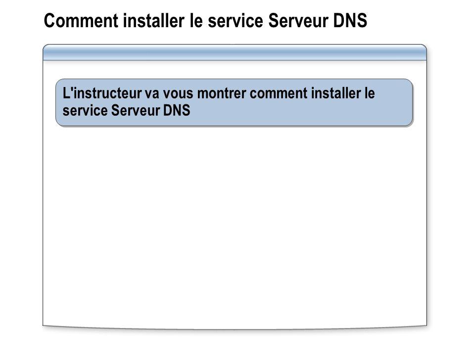 Comment installer le service Serveur DNS