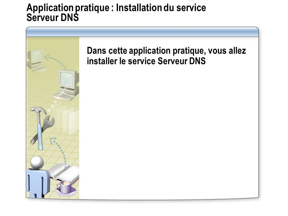 Application pratique : Installation du service Serveur DNS