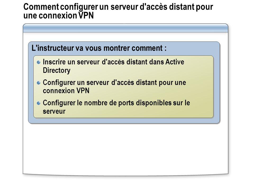 Comment configurer un serveur d accès distant pour une connexion VPN