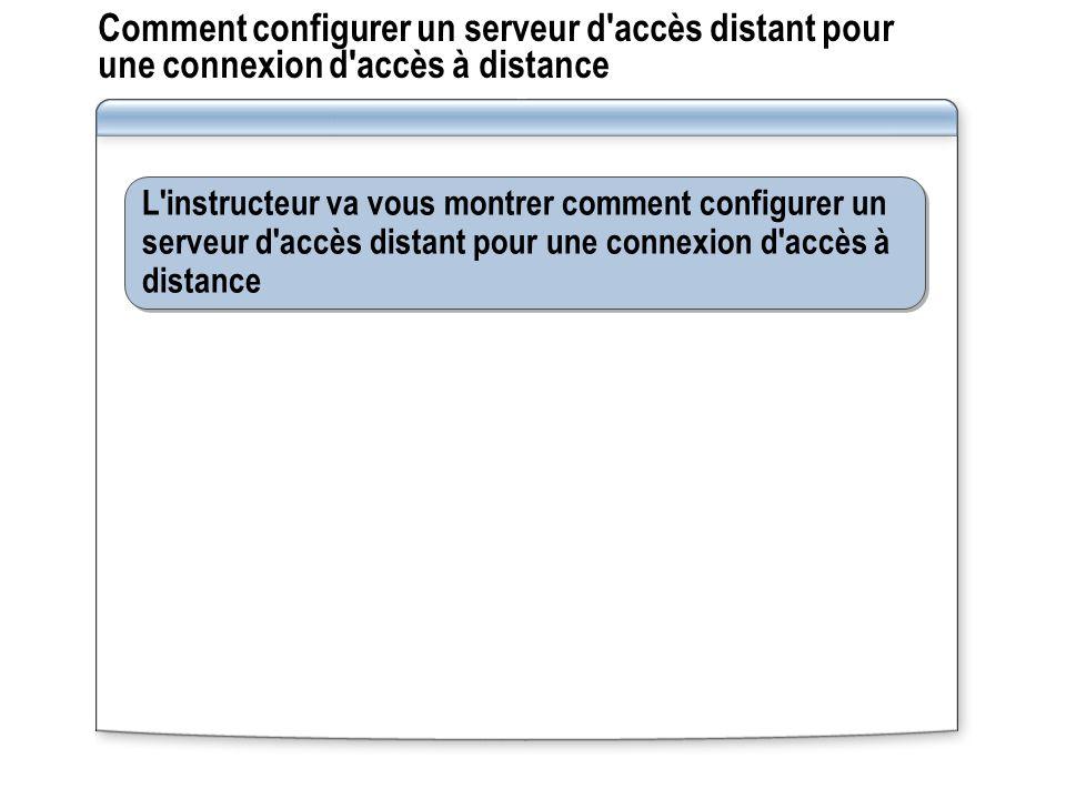 Comment configurer un serveur d accès distant pour une connexion d accès à distance
